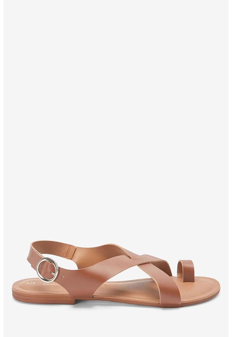 Sandale de piele cu barete incrucisate thumbnail
