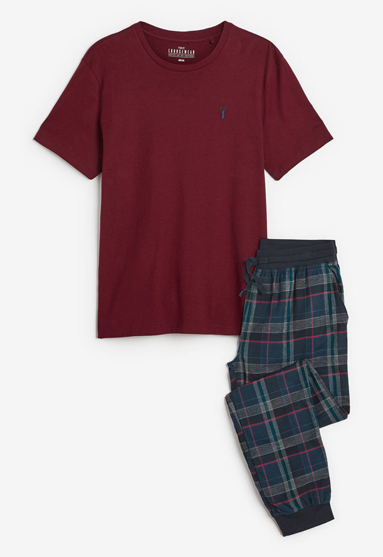 Pijama cu pantaloni in carouri thumbnail