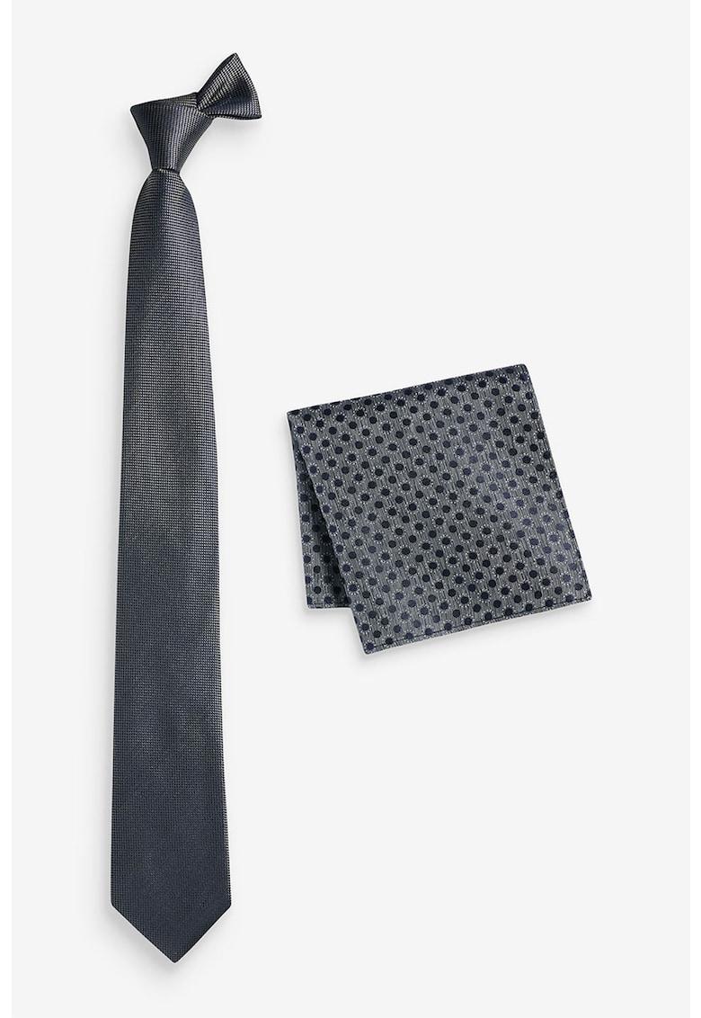 Set de cravata de matase si batista decorativa - 2 piese thumbnail