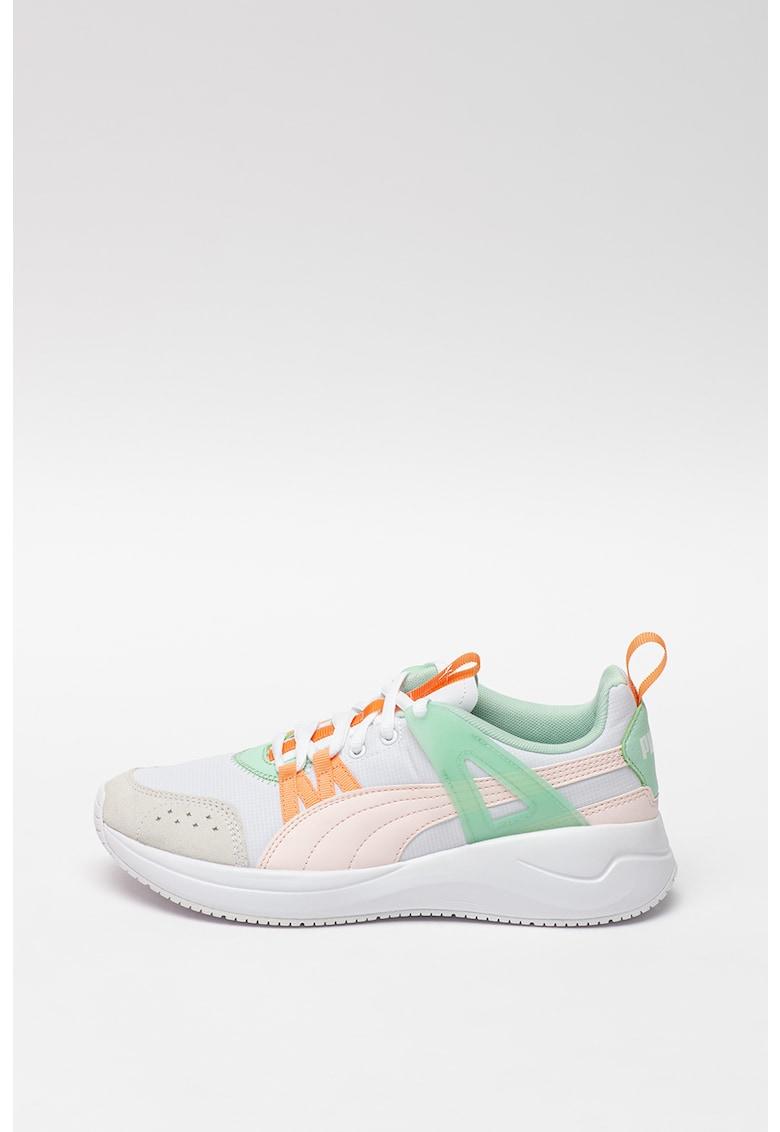 Pantofi sport cu garnituri din piele Run Cage