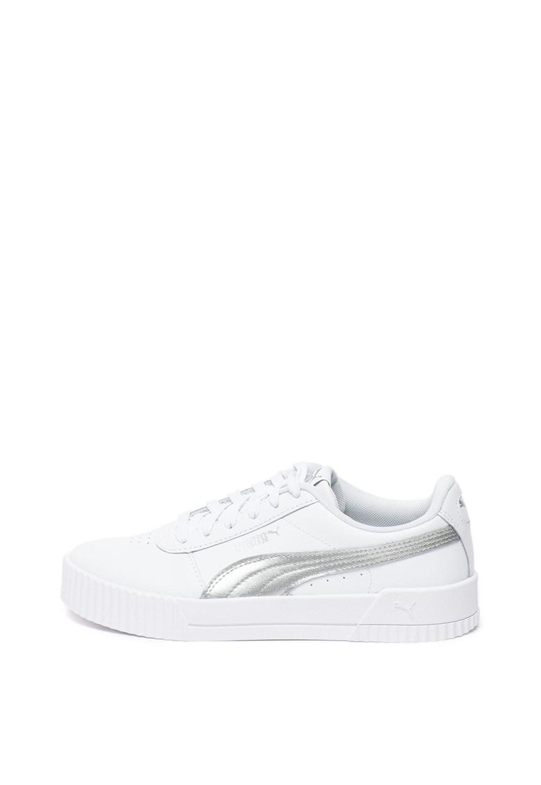 Pantofi sport de piele cu insertii de piele ecologica Carina