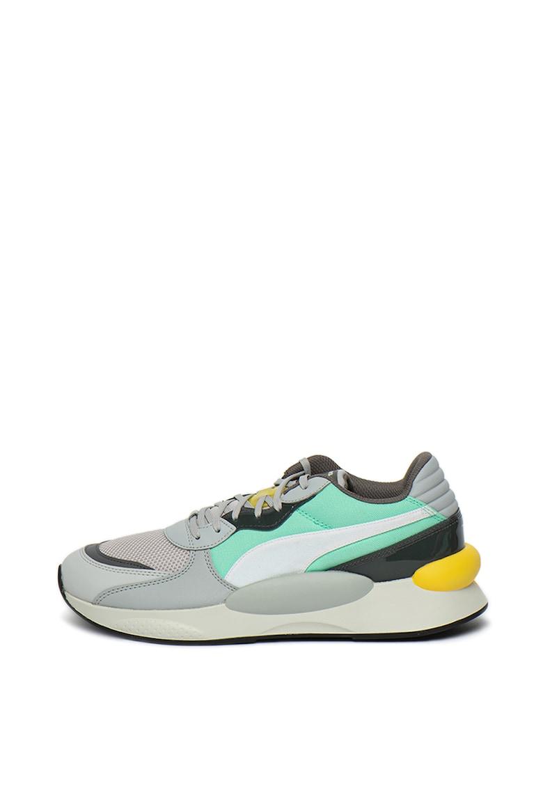 Pantofi sport unisex de piele ecologica - cu garnituri contrastante 8 Fresh imagine