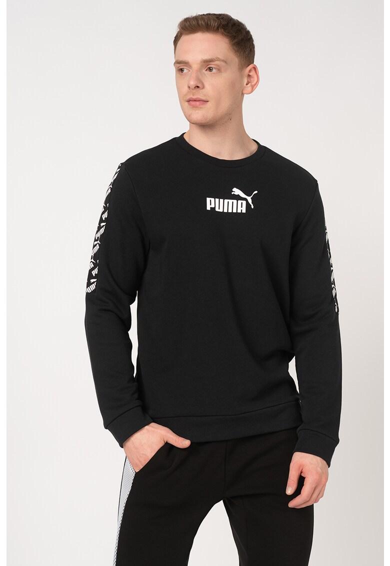 Bluza sport cu decolteu la baza gatului si logo Amplified imagine