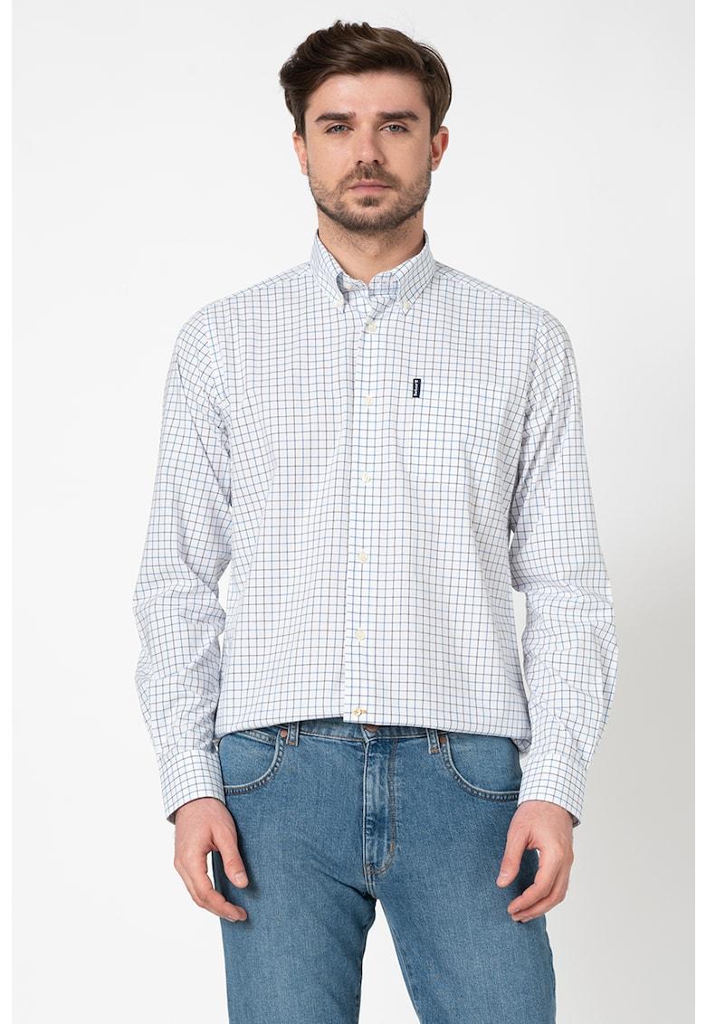 Camasa tailored fit cu model in carouri Bărbați imagine