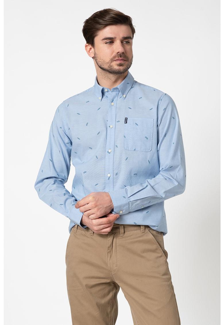 Camasa tailored fit cu model grafic Bărbați imagine