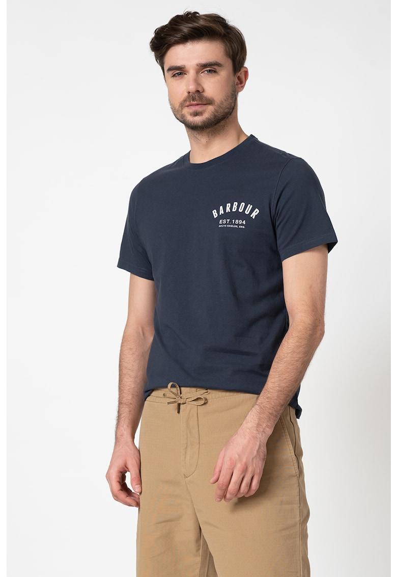 Tricou tailored fit cu imprimeu logo Bărbați imagine