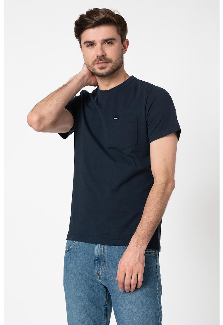 Tricou cu buzunar pe piept Bărbați imagine