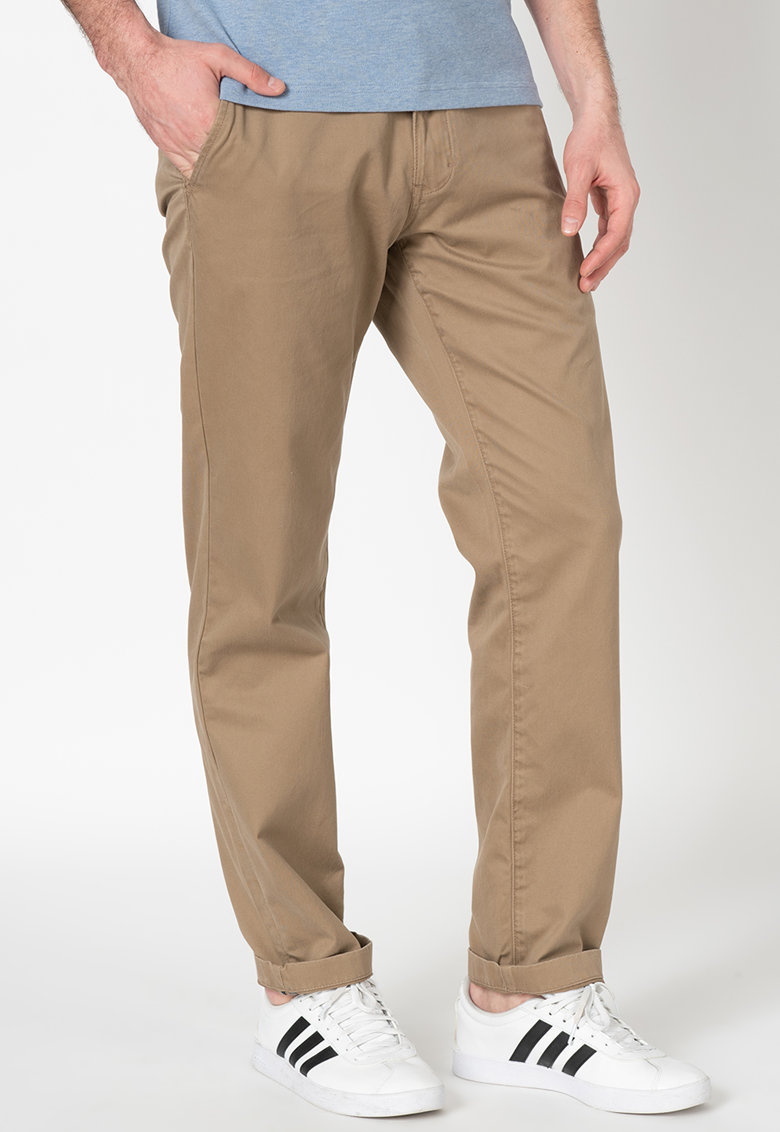 Pantaloni chino cu buzunare oblice City imagine fashiondays.ro