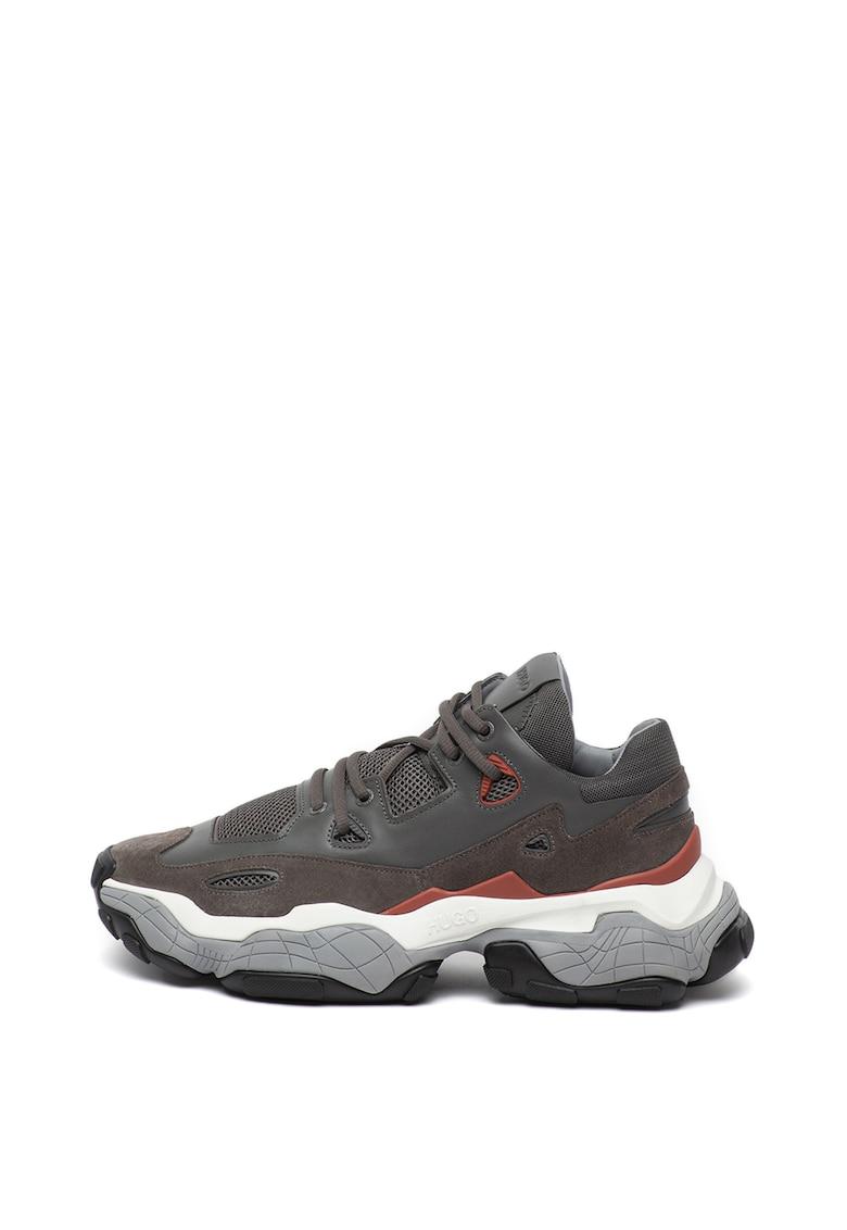 Pantofi sport cu insertii de piele intoarsa Atomic