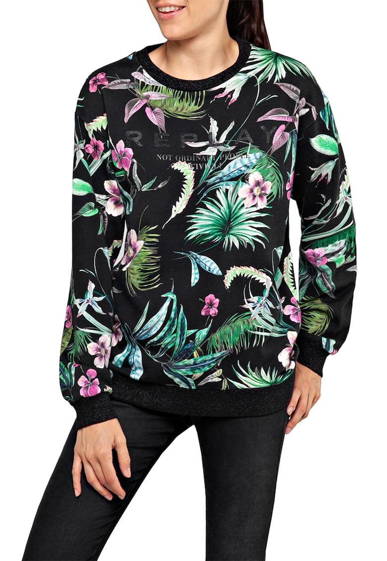 Bluza sport cu model tropical