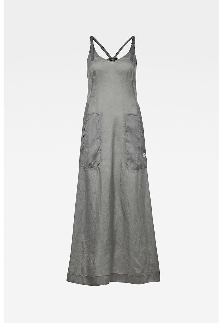 Rochie din lyocell - cu bretele ajustabile