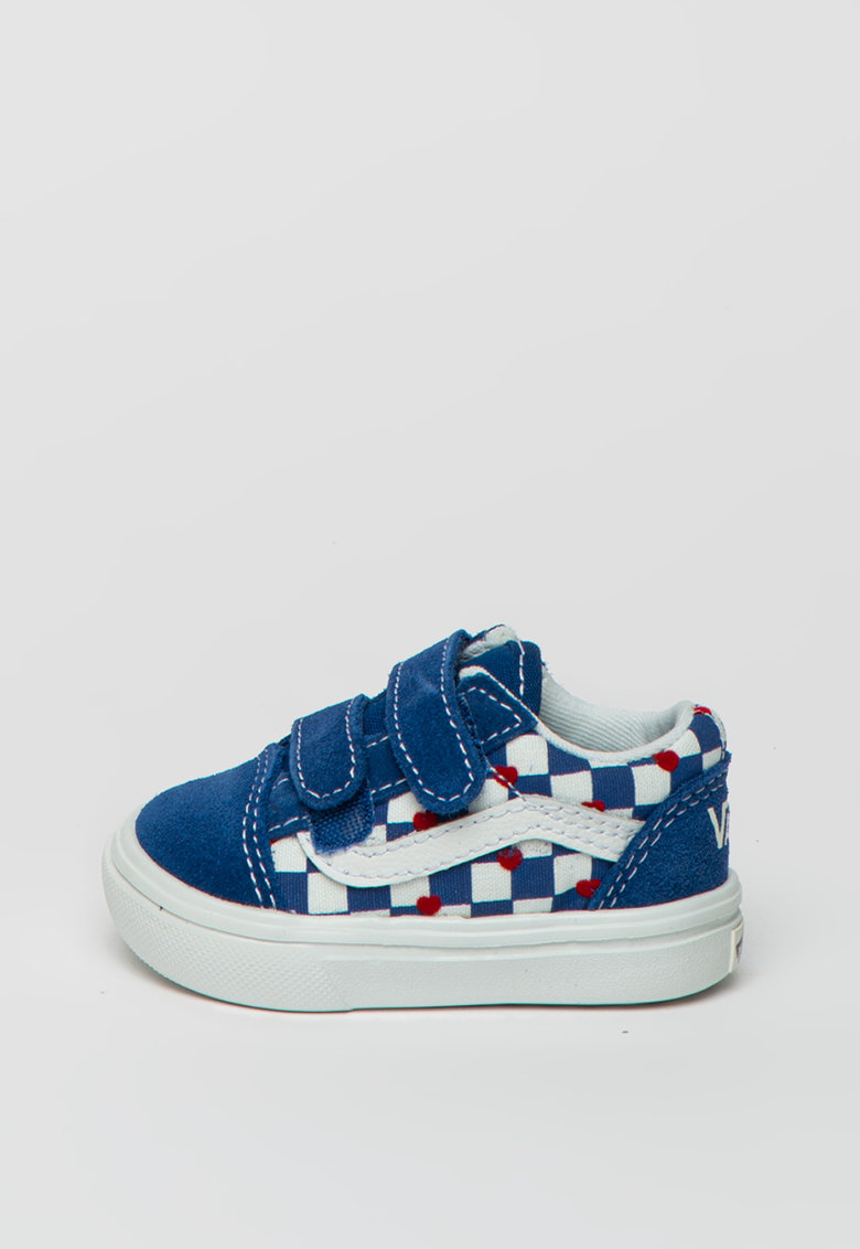 Pantofi sport cu velcro - in carouri ComfyCush Old Skool imagine