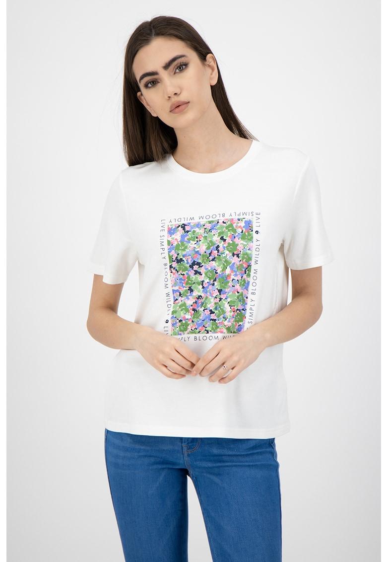 Tricou cu imprimeu si aplicatii din paiete