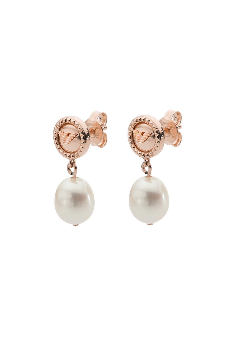 Cercei drop de argint veritabil - cu perle