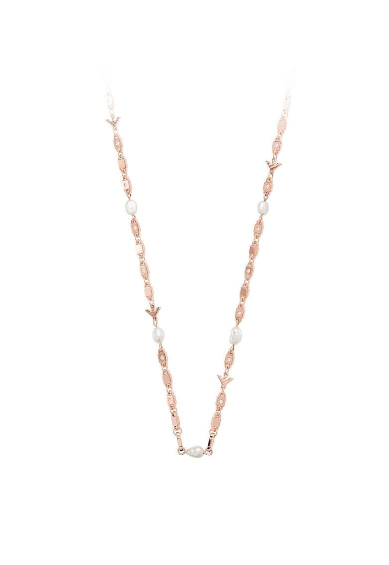 Colier din argint veritabil cu cristale si perle de apa dulce Emporio-Armani imagine 2021