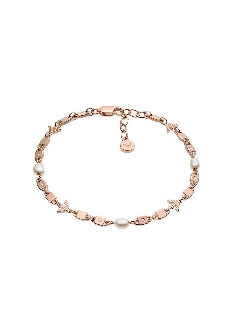 Bratara de argint veritabil - decorata cu perle
