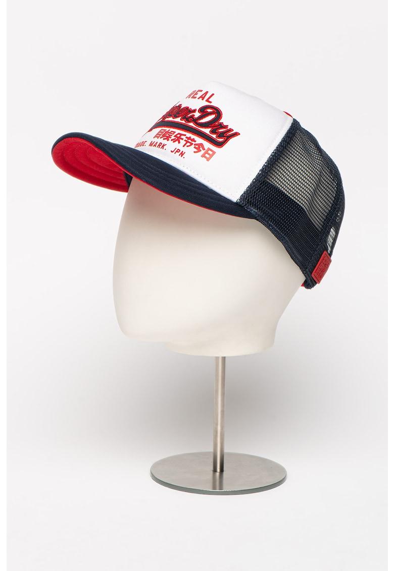 Sapca de bumbac cu logo brodat Vintage fashiondays.ro