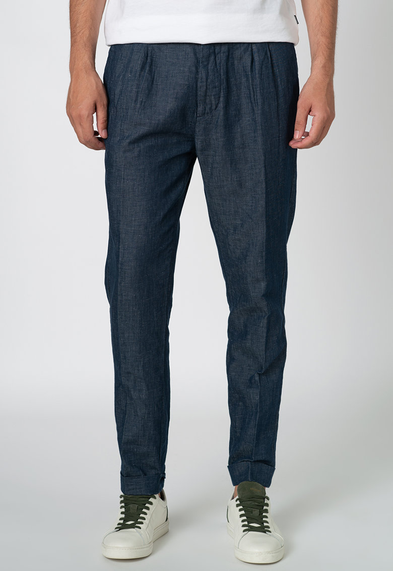 Pantaloni chino cu pliuri