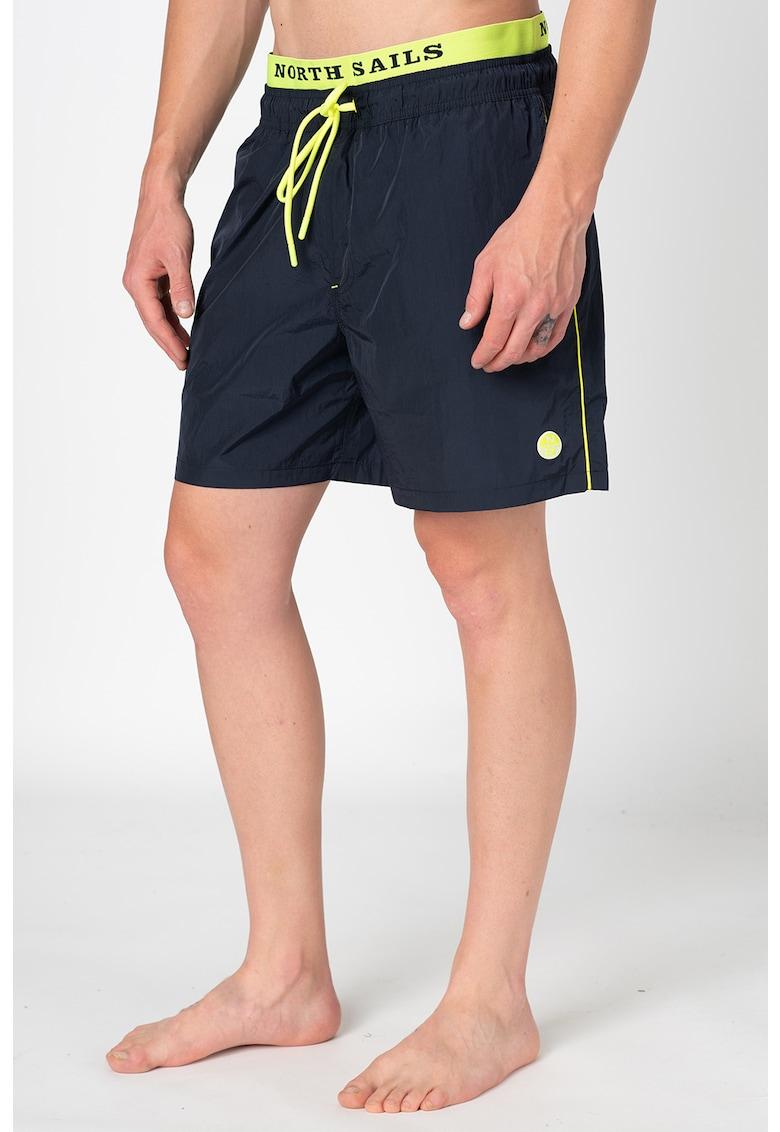 Pantaloni scurti de baie cu snur de ajustare in talie