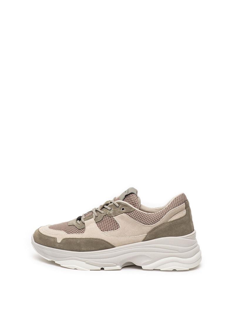 Pantofi sport cu insertii de piele intoarsa Gavin