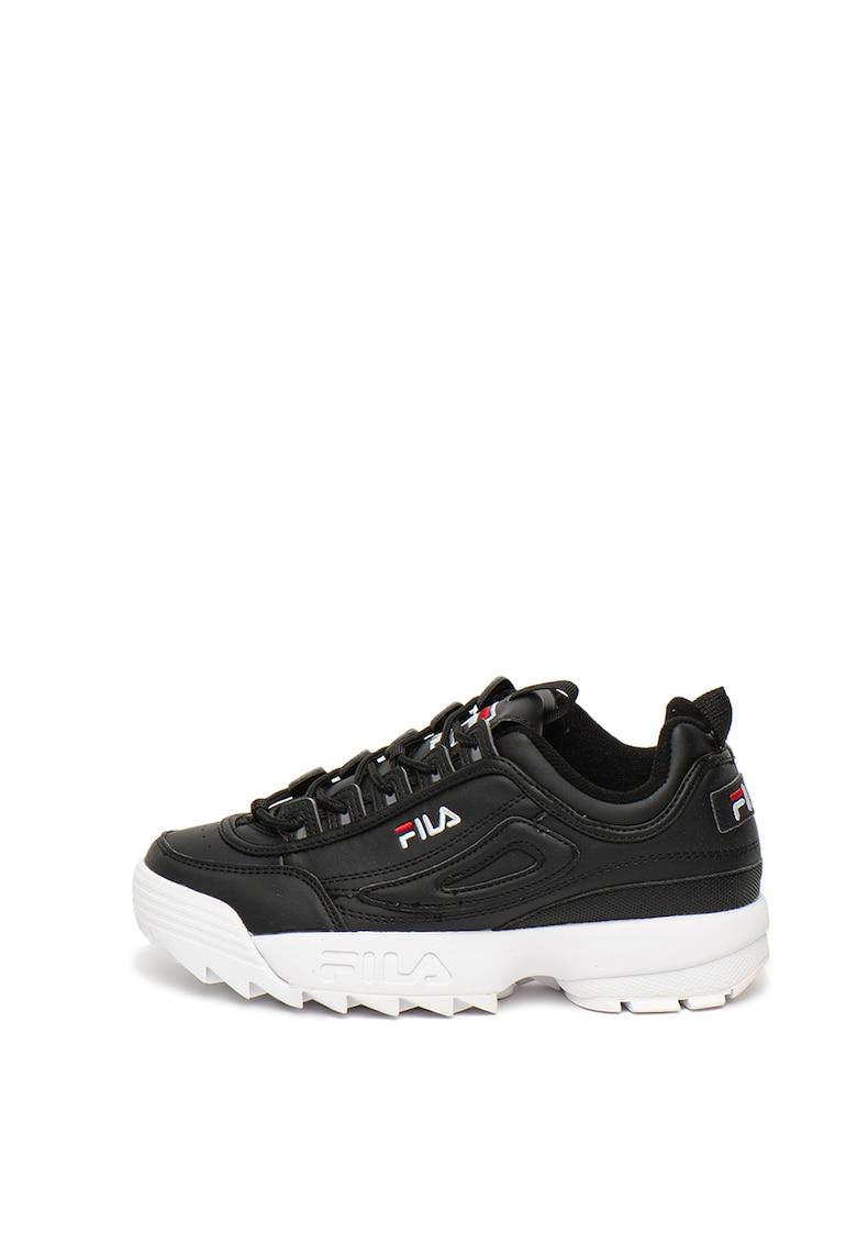 Pantofi sport din piele ecologica Hoops 2.0 3