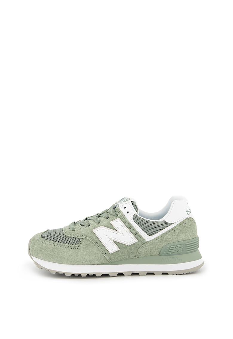 Pantofi sport cu insertii din piele intoarsa 574