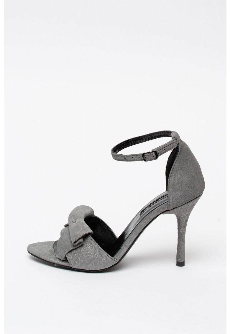 Sandale de piele intoarsa cu toc stiletto Mihaela-Glavan imagine 2021