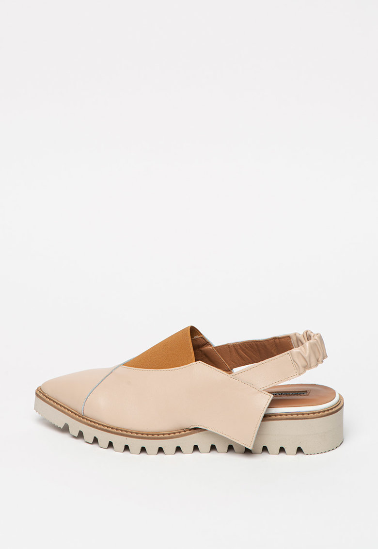 Pantofi slingback de piele cu varf ascutit poza fashiondays