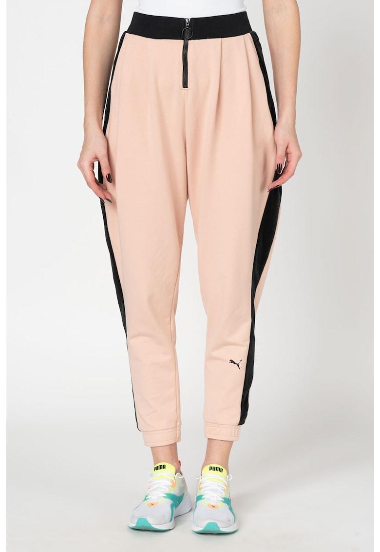Pantaloni sport cu garnituri laterale catifelate Rive Gauche