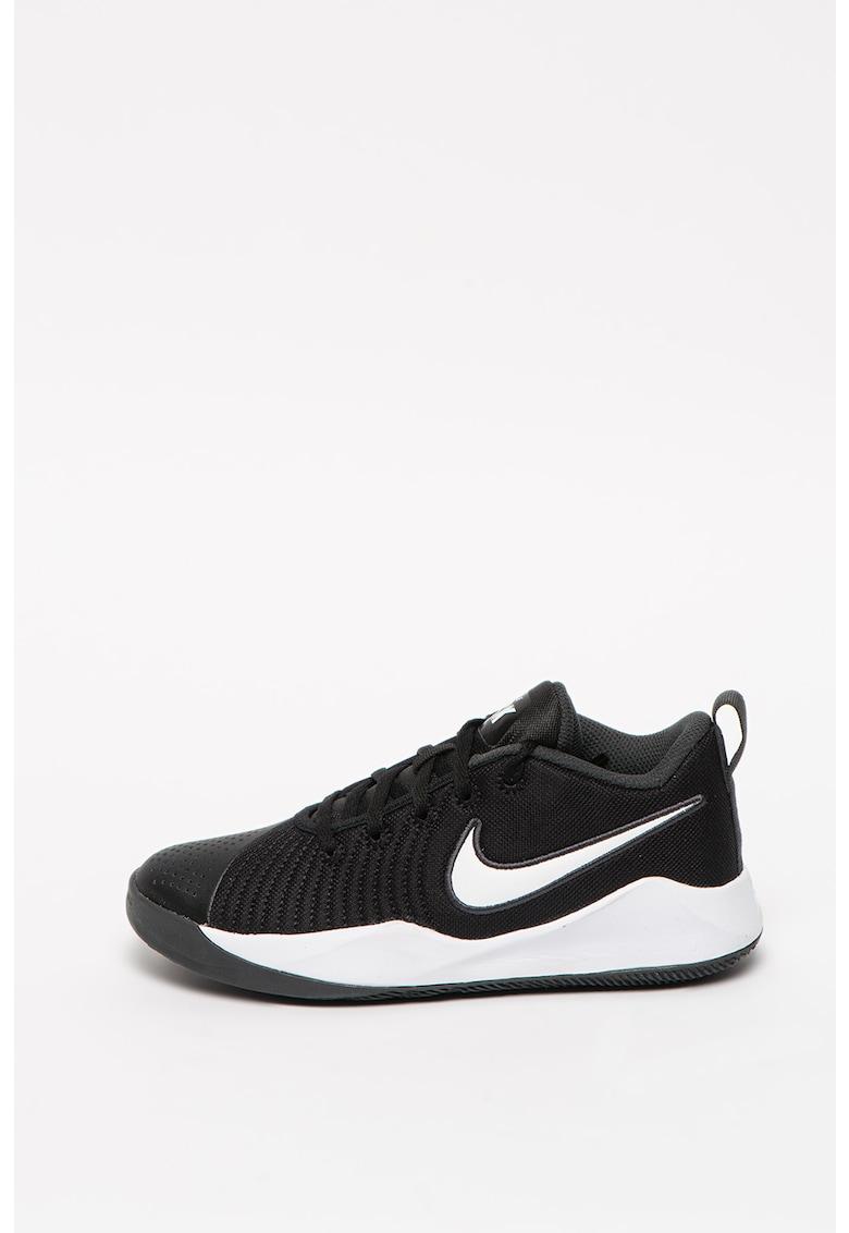 Pantofi cu logo brodat - pentru baschet Team Hustle de la Nike