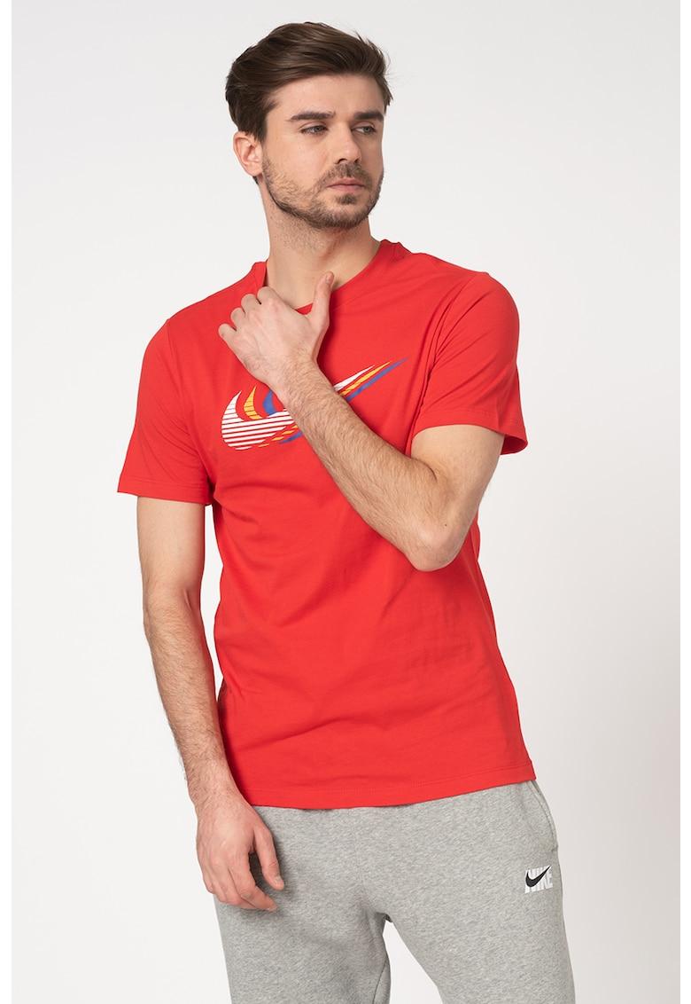 Tricou de bumbac cu imprimeu logo imagine fashiondays.ro Nike
