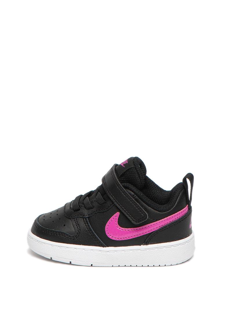 Pantofi sport de piele si piele ecologica Court Borough Low 2 imagine fashiondays.ro