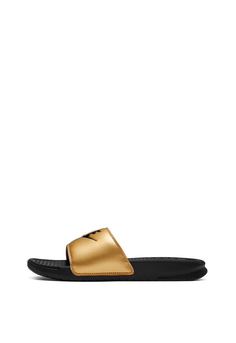 Papuci cu aspect metalizat Benassi