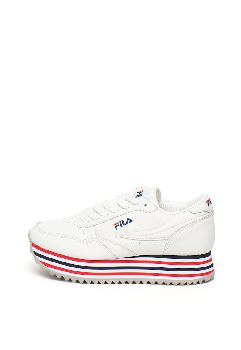 Pantofi sport de piele - cu dungi Orbit Zeppa
