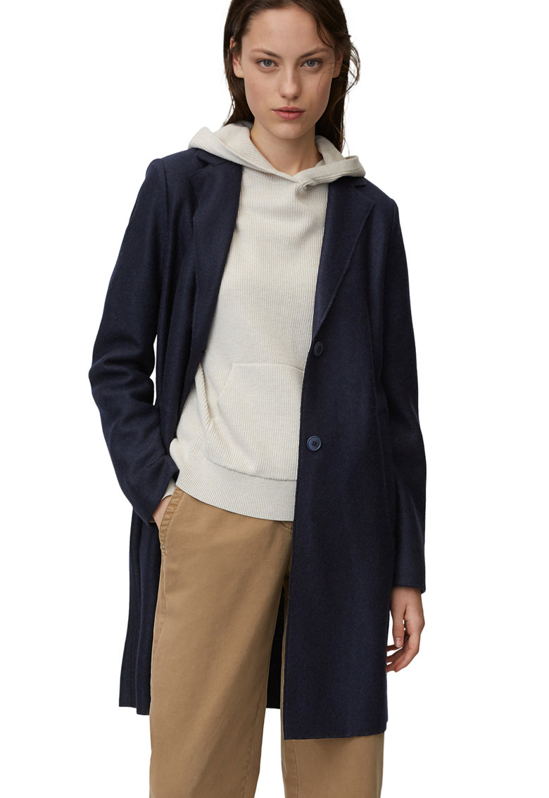 Palton de lana - cu nasturi