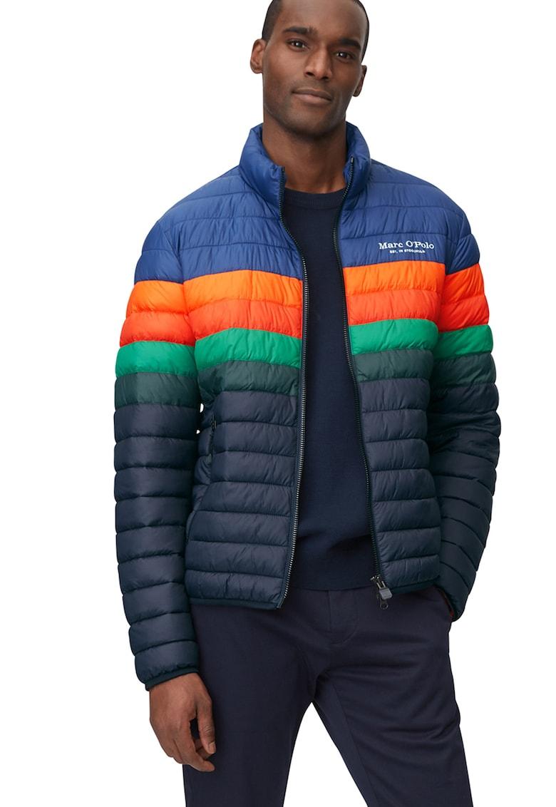 Jacheta cu vatelina subtire si model colorblock