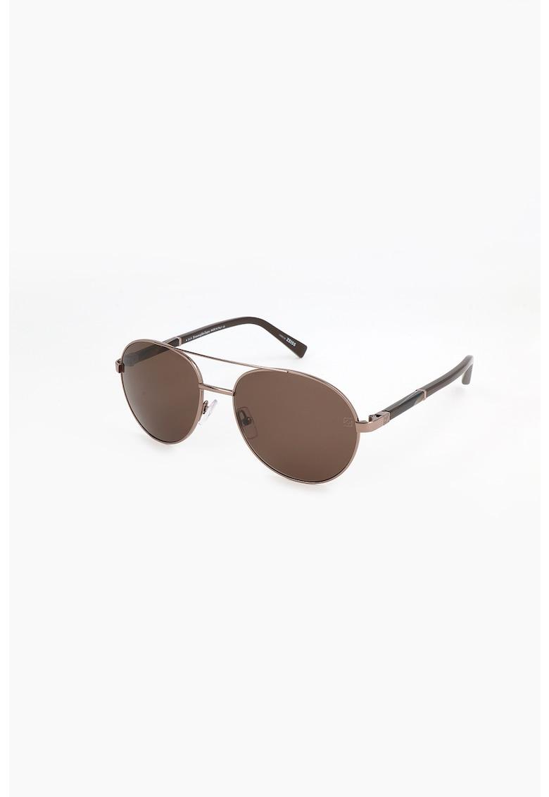 Ochelari de soare rotunzi cu rame metalice