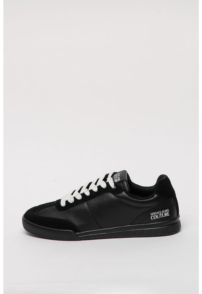 Pantofi sport de piele si piele intoarsa Open 70's