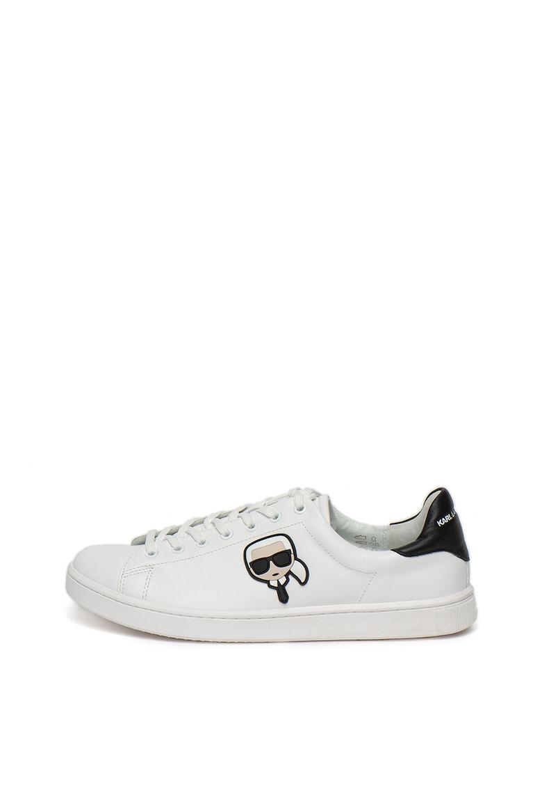 Pantofi sport din piele cu aplicatie logo cu Karl Lagerfeld Kourt