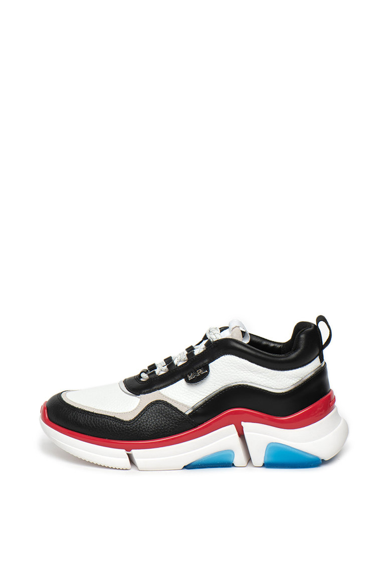 Pantofi sport din piele cu model masiv Venture imagine fashiondays.ro