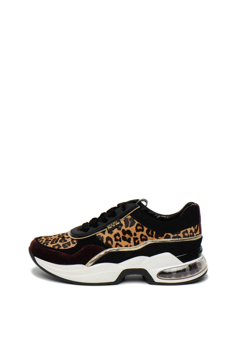 Pantofi sport wedge cu animal print Ventura
