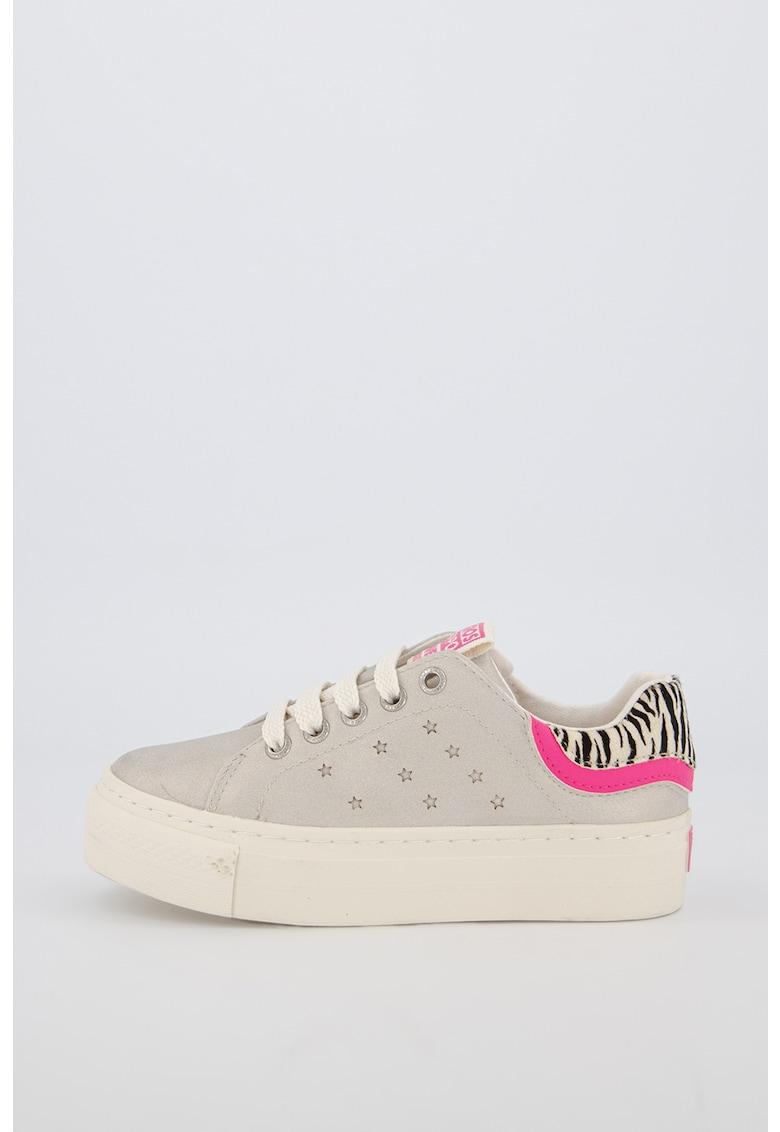 Pantofi sport flatform cu aspect stralucitor Bathinda fashiondays.ro