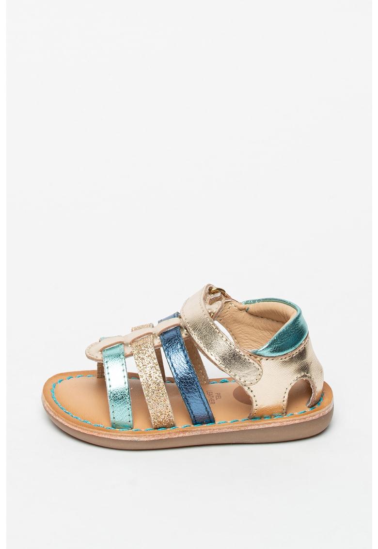 Sandale de piele cu aspect metalizat Okaloosa