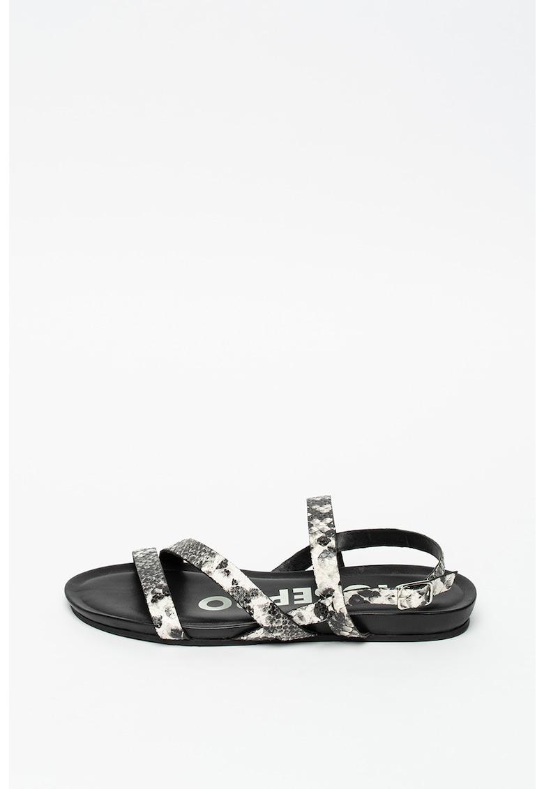 Sandale de piele cu imprimeu piele de reptila Roxobel