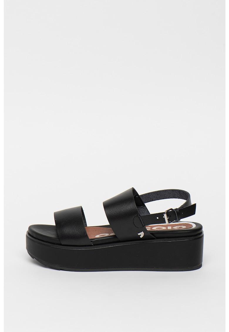 Sandale flatform de piele ecologica Candor