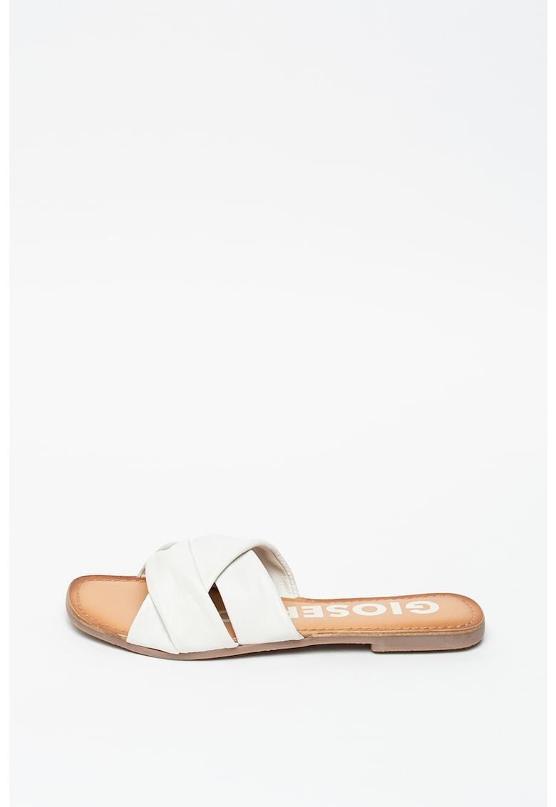 Papuci de piele Junius