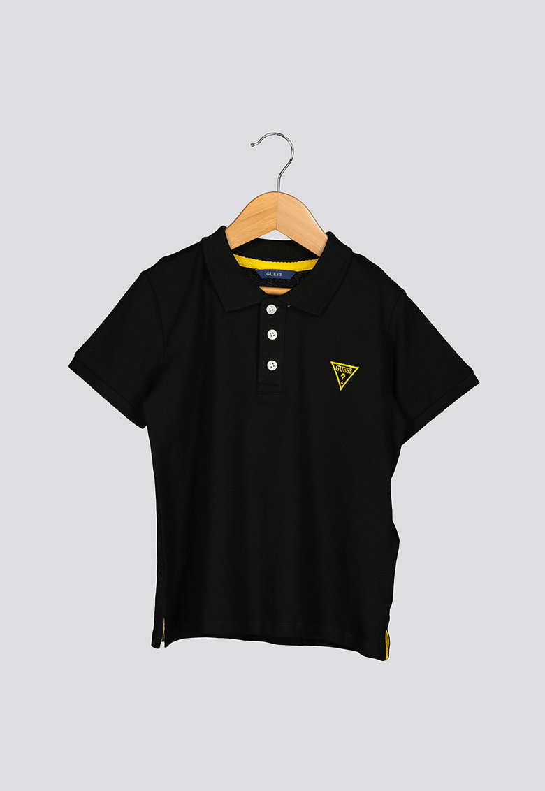 Tricou polo cu detaliu logo brodat GUESS JEANS fashiondays.ro