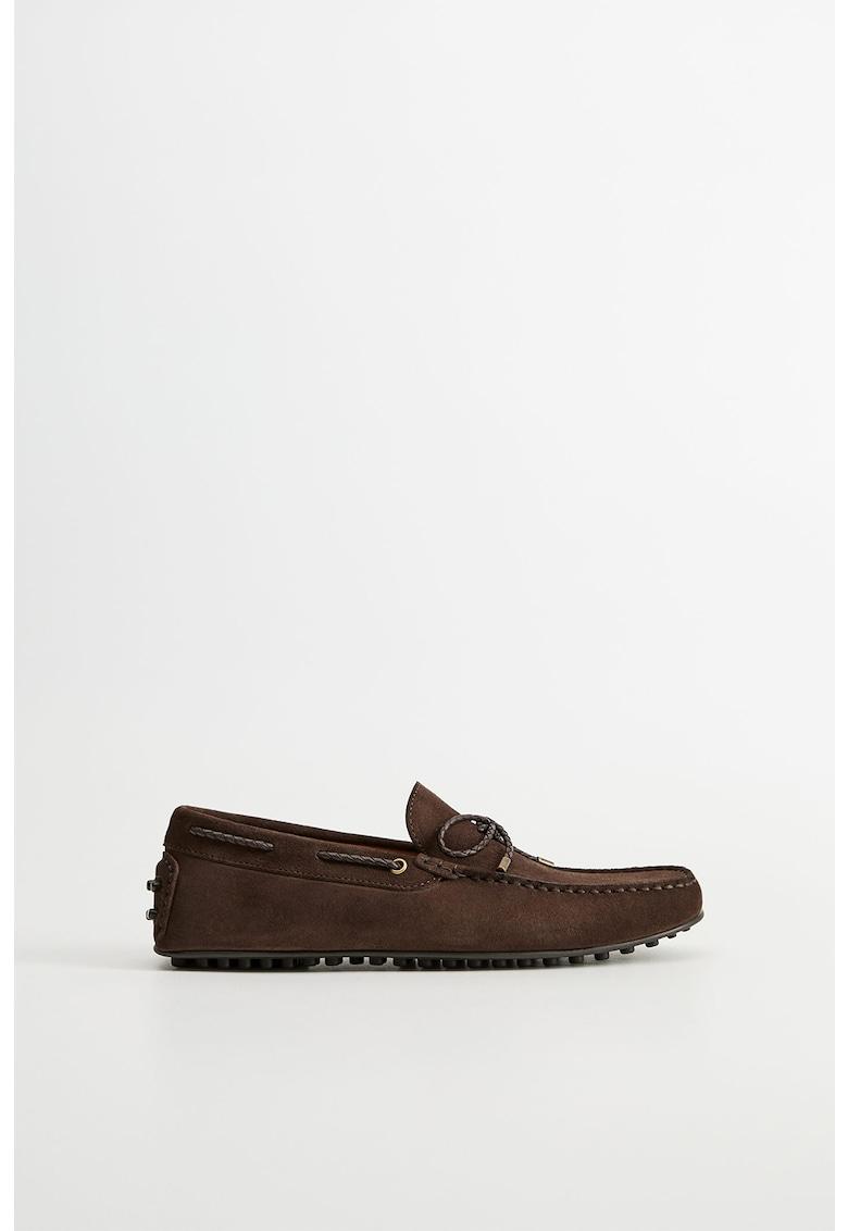 Pantofi loafer din piele intoarsa Gomet