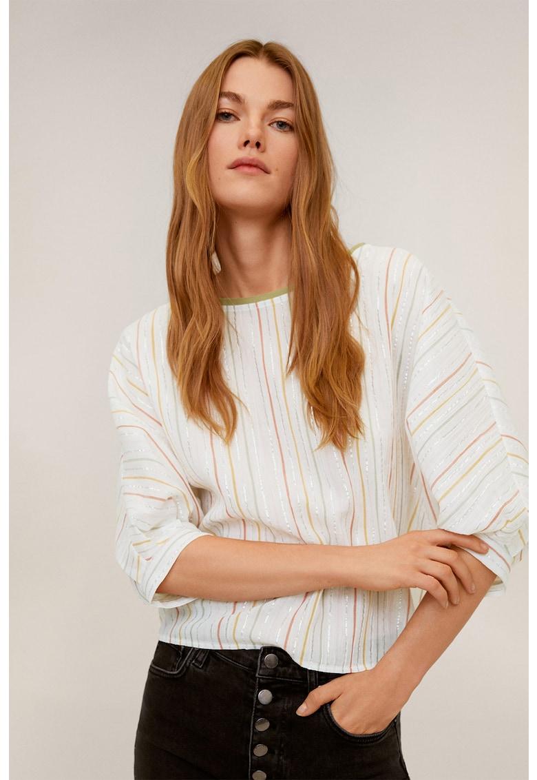 Bluza cu insertii din lurex Tanya