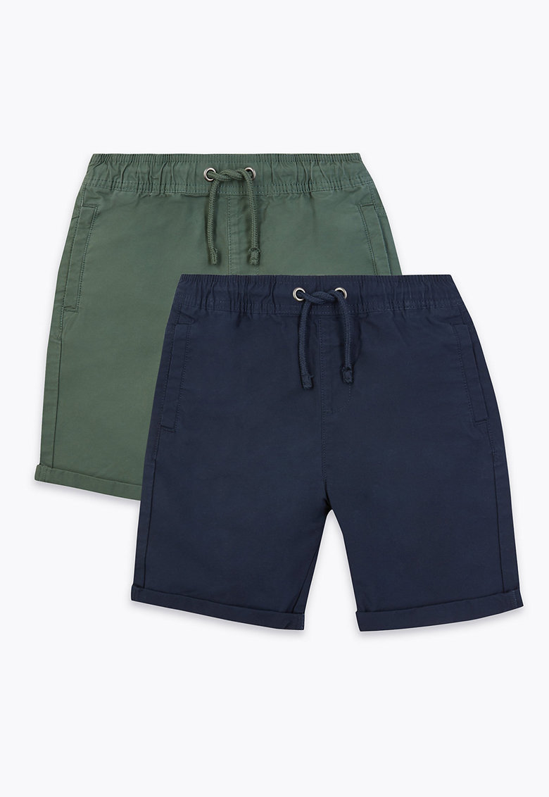 Pantaloni scurti regular fit -2 perechi imagine
